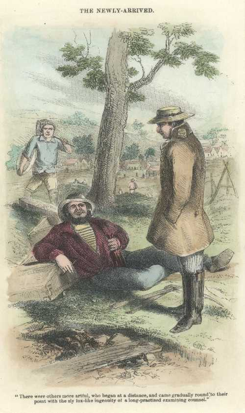Gold. The Newly-arrived. Sherer engraving c1853 after Gill lithograph