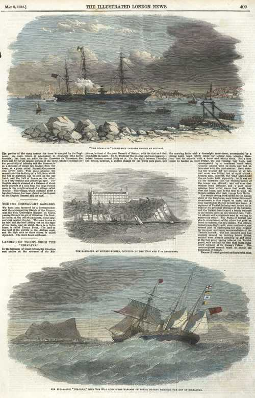 "Crimea War. ""The Himalaya"" at Scutari.. ""Niagara"" at Gibraltar c1854"