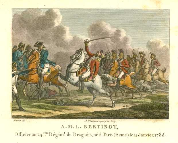 French Battle. Dragoons. A.M.L. Bertinot. Militaire Français c1810.