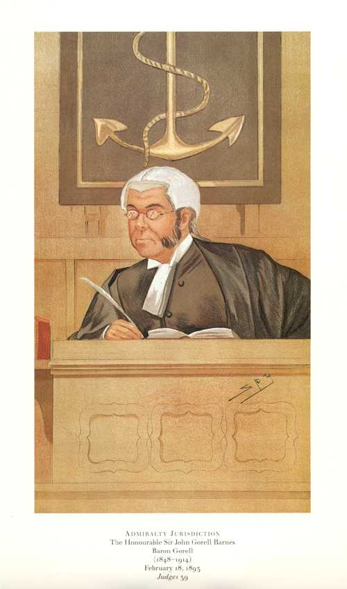 Admiralty Jurisdiction. Vanity Fair, Legal caricature reproduction print.