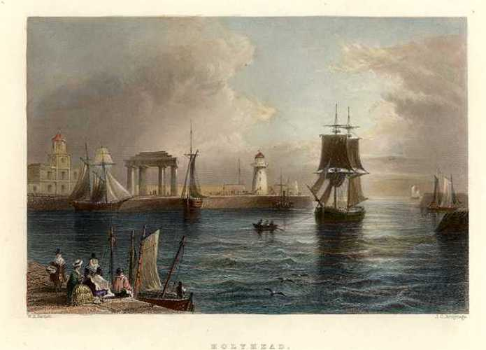 Finden, Bartlett engraving of a View of Holyhead c1844
