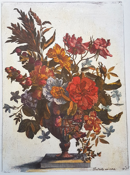 Fabulous flowers in Vase. Reproduction print