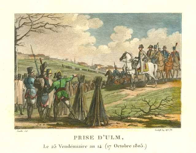 French Military. The Taking of Ulm. Prise d'Ulm. Militaire Français. c1810