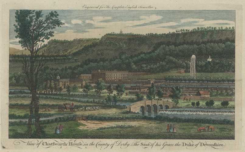 Chatsworth House in the County of Derby. Complete English Traveller, c1773