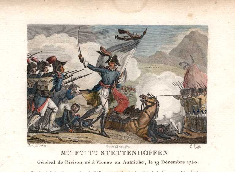 French Military M.F.T. Stettenhoffen General de Division. c1810