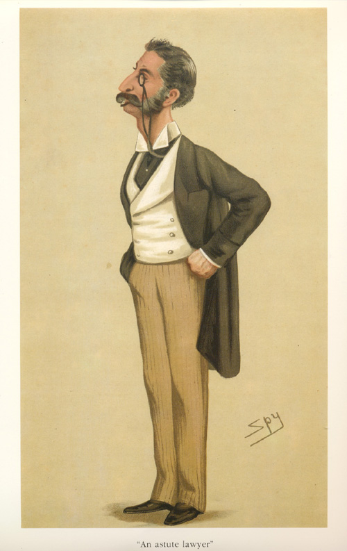 An Astute Lawyer. Vanity Fair Spy legal caricature.