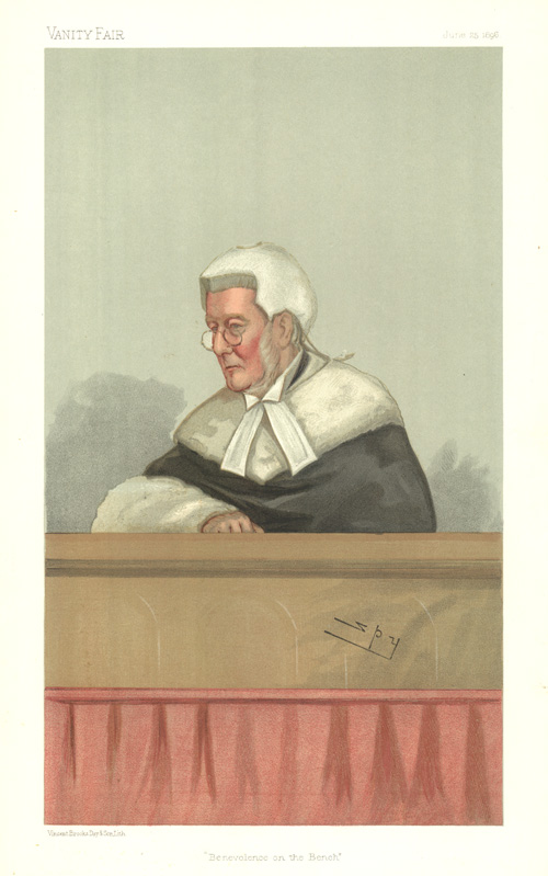 """Benevolence on the Bench"" Vanity Fair caricature. Spy, c1896."