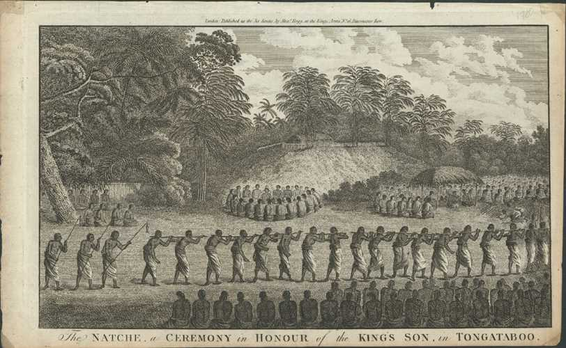 Tonga. Natche, Ceremony in Honour of King's Son. Cook c1784