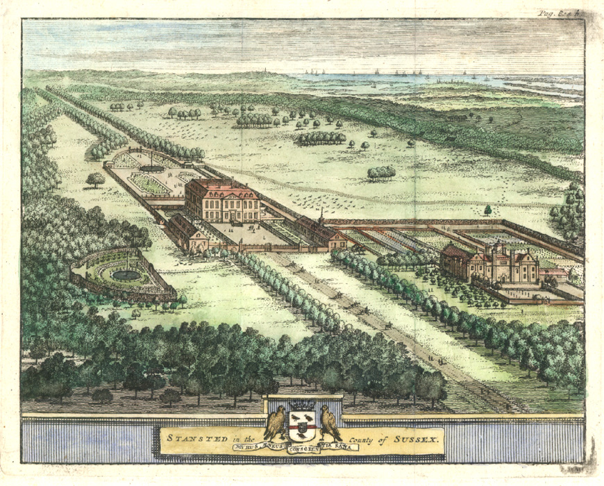 Stansted in the County of Sussex. Beeverell c1727.