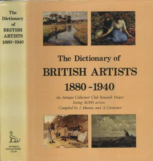 Artists. Dictionary of British Artists 1880-1940. Antique Collectors' Club.