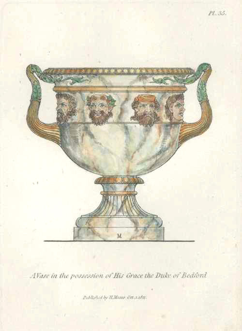 Classical Vase engraved by Henry Moses c1811. Antique Vase 35.