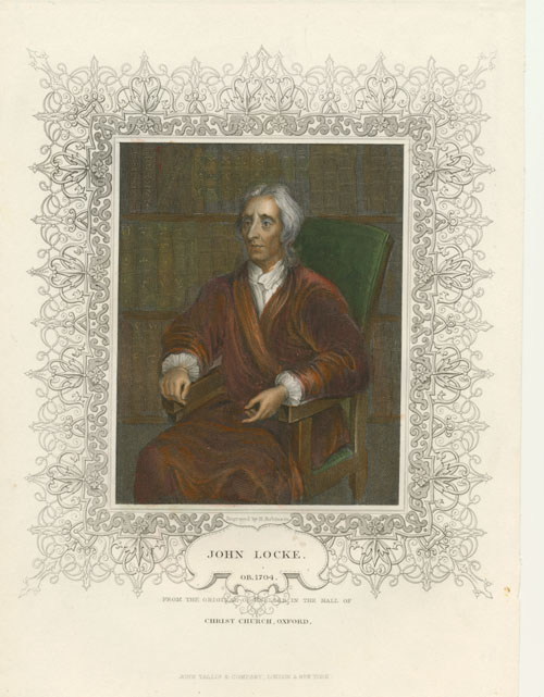 John Locke finely engraved portrait published by Tallis c1855
