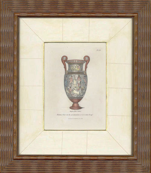 (Framed) Beautiful Classical Vase in the Possession of J.Soane Esq. Engraving c1811