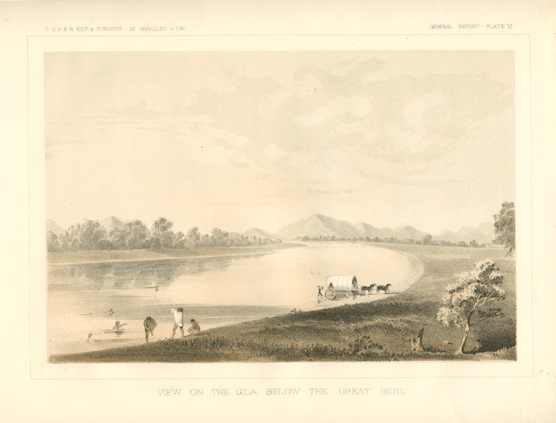 Arizona. View on the Gila Below the Great Bend, c1855.