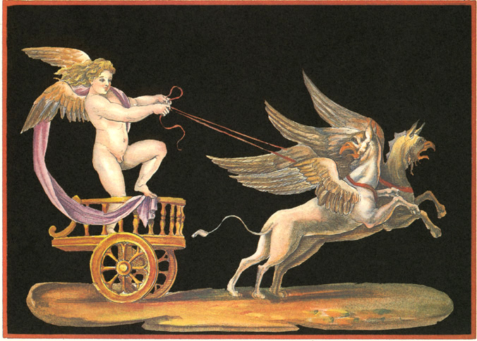 Genie d'Apollon (Genie of Apollo). Cherub in Chariot.