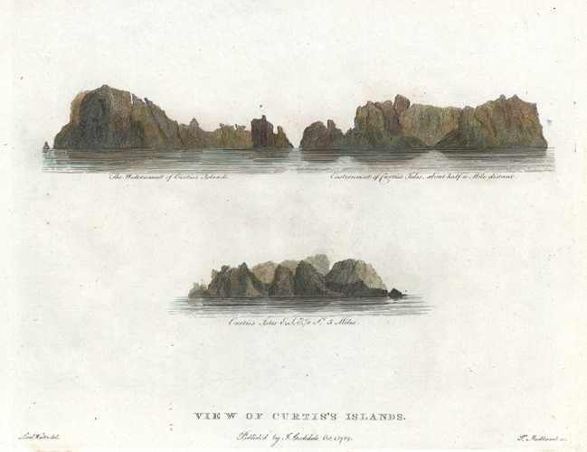 Curtis's Islands, north-east of New Zealand. Kermadec Islands c1789.