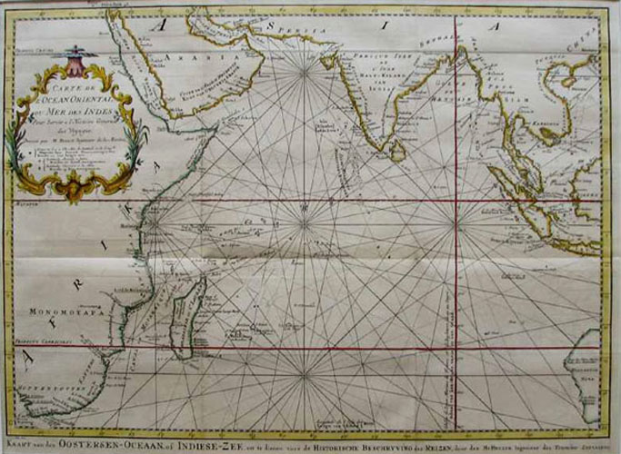 Carte de l'Ocean Oriental ou Mer des Indes. Bellin Indian Ocean map c1758.