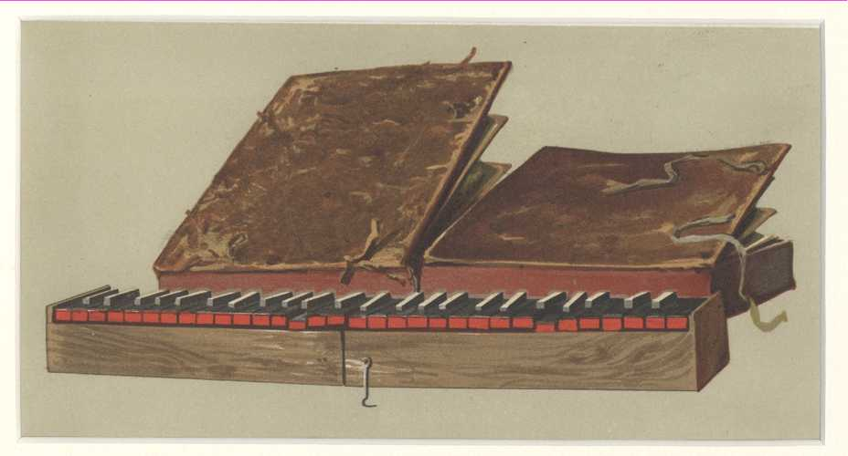 A.J. Hipkins' Historic Instruments. Bible Regal antique print c1888