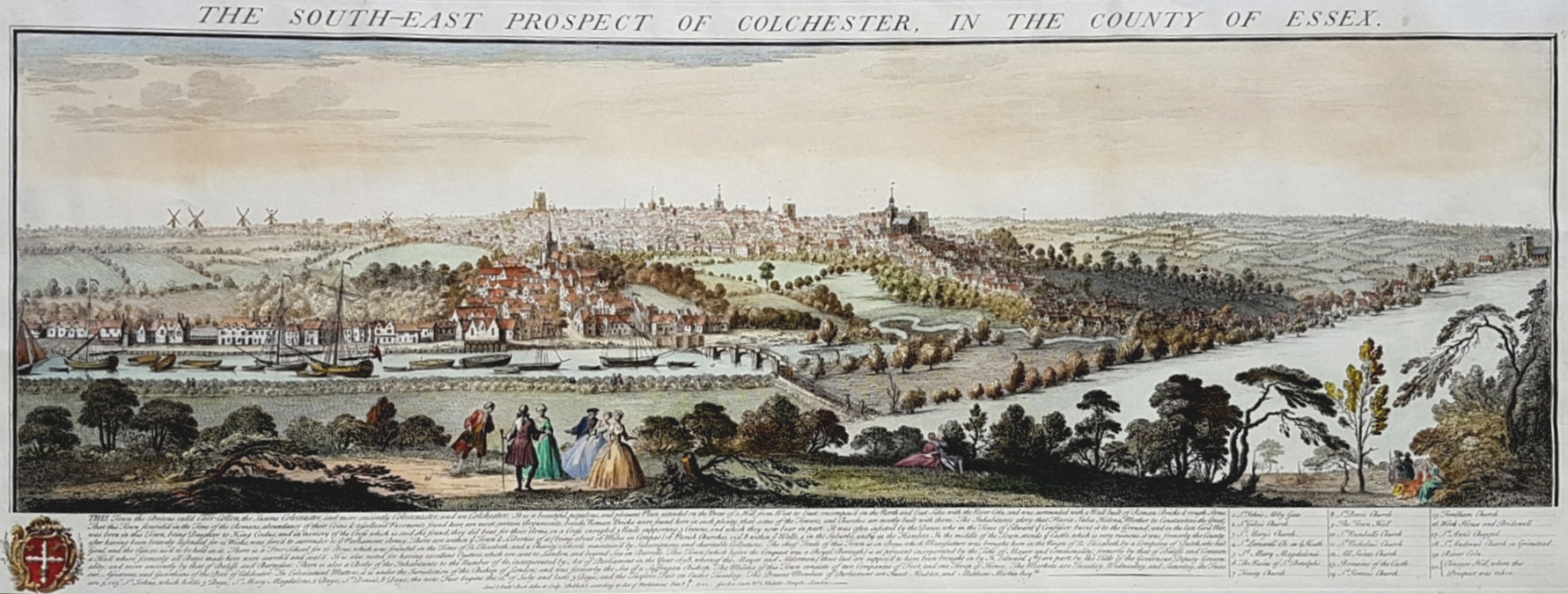 Buck's Prospect of Colchester in Essex, c1741. (large)