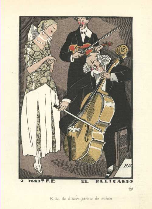 The Maestro, El Relicario Cello music, & Violin. Gazette du Bon Ton c1920
