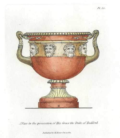 Grand Antique Vase engraved by Henry Moses c1810
