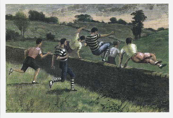 Athletics. Running Cross-country. Hare & Hounds reproduction print