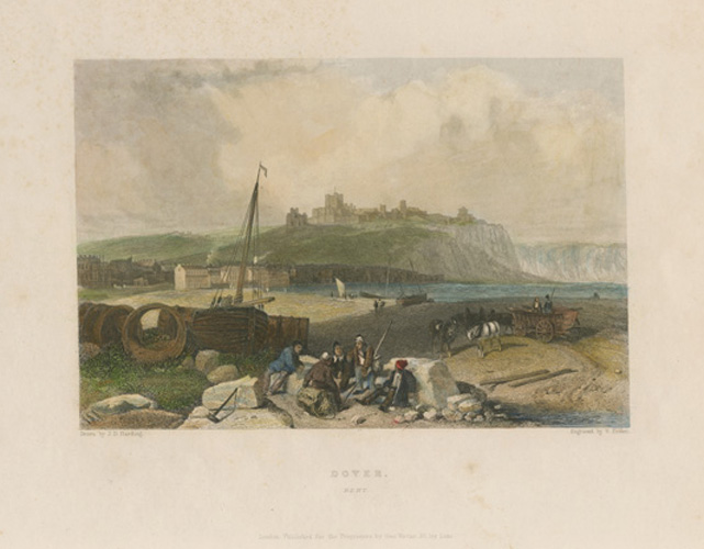 Dover, Kent. Antique engraving by William Finden c1840.