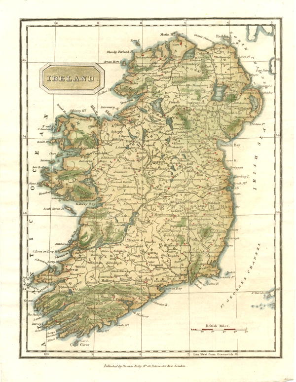 Detailed Map Of Ireland.Antique Print Club Finely Detailed Ireland Antique Map By Thomas