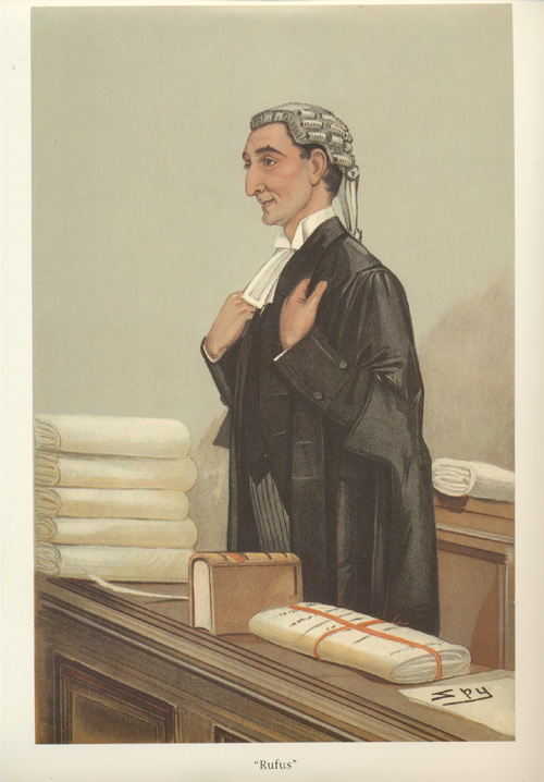 Rufus. Reproduced from lithograph of Spy legal caricature.
