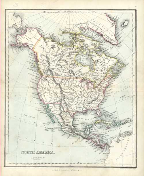Antique Map of North America. USA by Findlay c1853