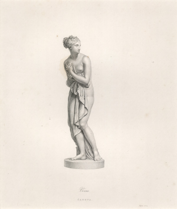 Beautiful Canova sculpture of Venus, engraved by Dyer.