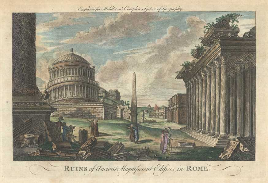 Italy. Ruins of Ancient Magnificent Edifices in Rome. Middleton c1777