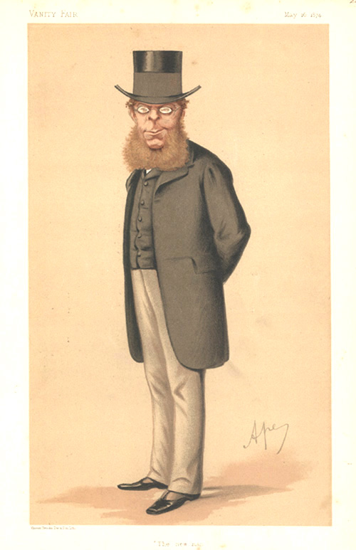"""The new man"" Vanity Fair caricature lithograph c1874."