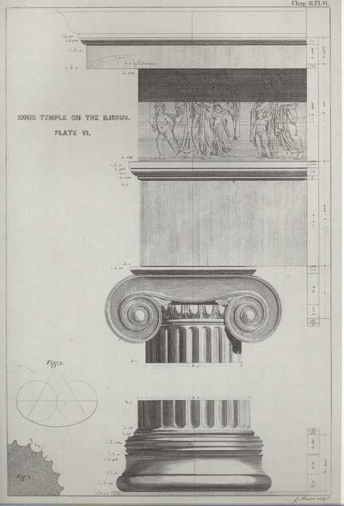 Column Capital of Ionic Style of Architecture reproduction print