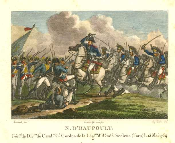 French Cavalry. General N. D'Haupoult. Legion of Honour. c1810