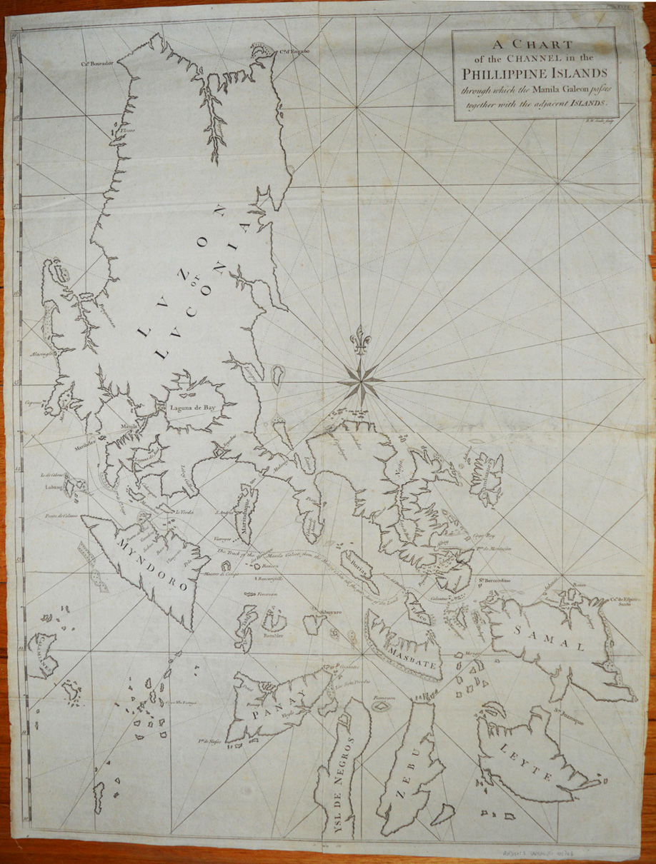 Antique Chart of the Philippines. Anson's Voyages c1748