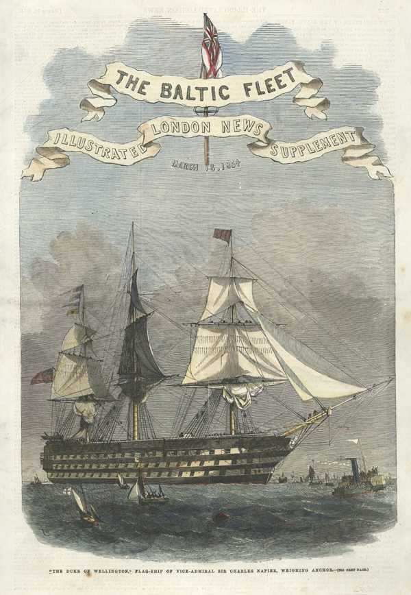 Crimean War: Baltic Fleet. The Duke of Wellington flag-ship. c1854