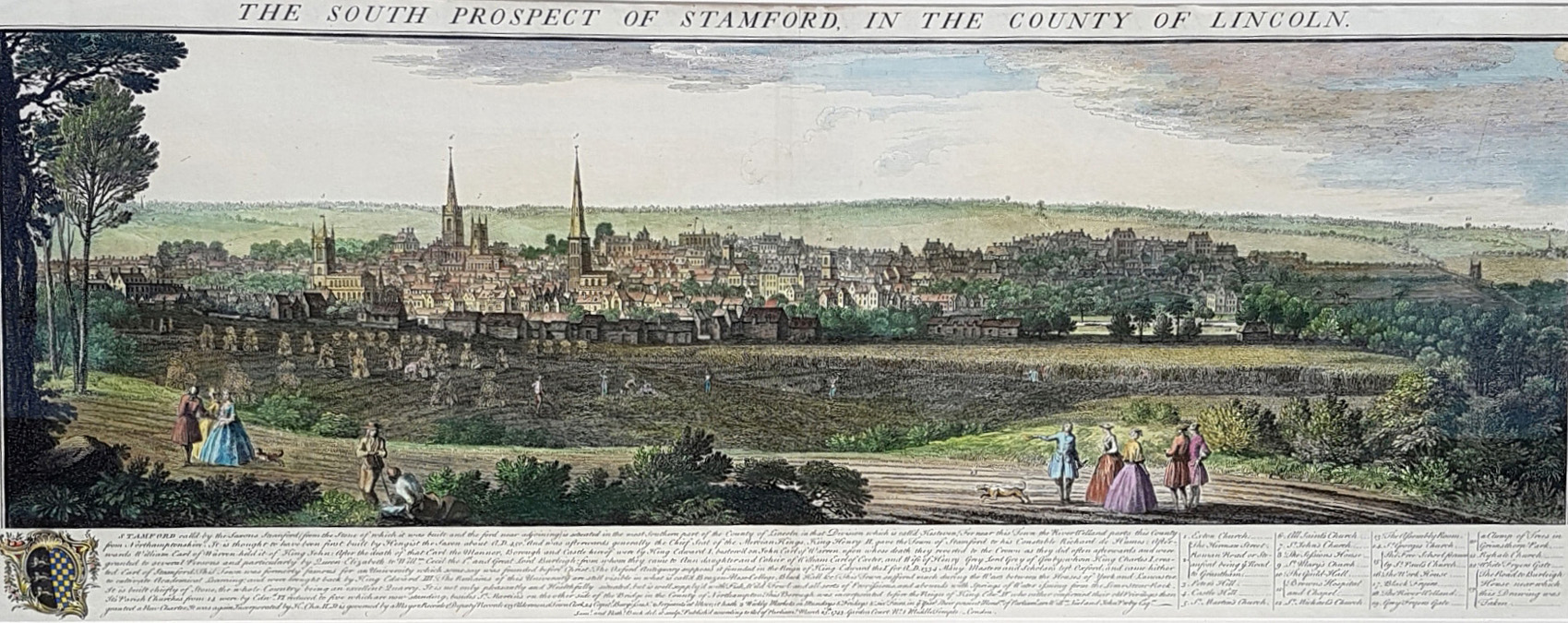 South Prospect of Stamford in Lincoln County. Buck c1743.