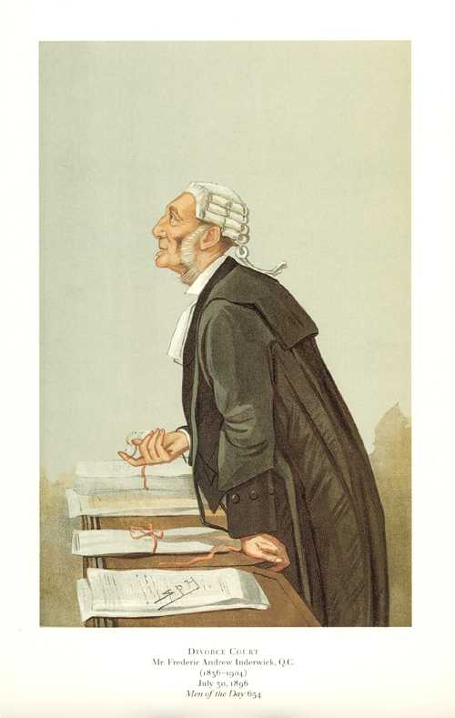Divorce Court. Vanity Fair legal caricature reproduction print
