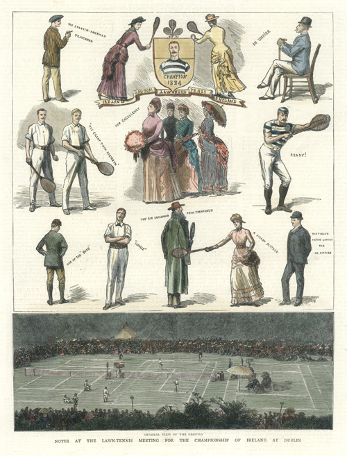 Lawn-Tennis Meeting for the Championship of Ireland c1884.