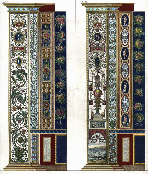 Half-price Raphael pilaster fresco fronts 5 and 6.