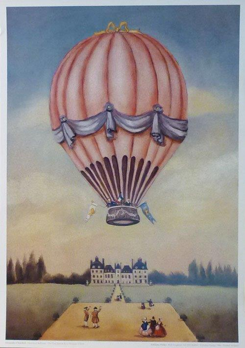Ballooning. The First Ascent by a Woman. Churchill print.