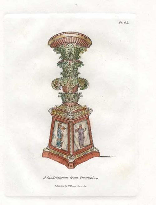 Grand Piranesi Candelabrum. Engraved for Henry Moses c1811