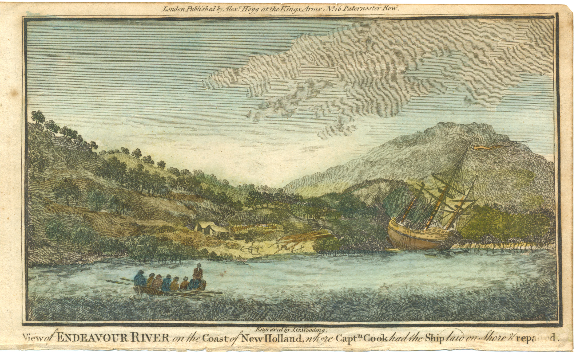 Endeavour River on the Coast of New Holland. c1790