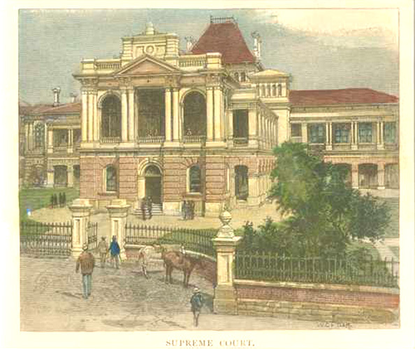 Brisbane. Supreme Court, antique print c1886