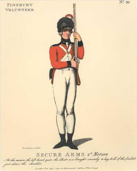 Military. Finsbury Volunteer of London. Secure Arms illustration