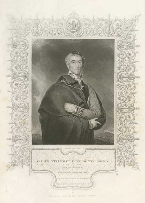 Tallis portrait. Duke of Wellington, Arthur Wellesley. Engraving c1854