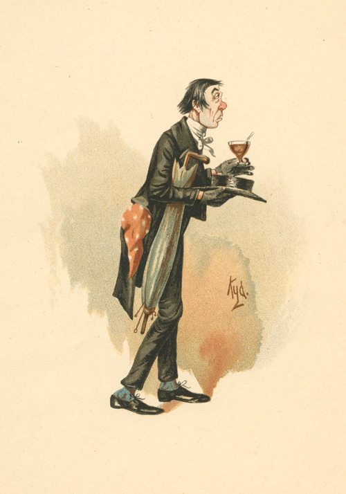 Charles Dickens. Pickwick Papers' Mr. Stiggins caricature lithograph c1890.