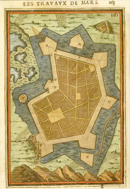 17thC Mallet Fort Design for Les Travaux de Mars (Work of War). c1684.