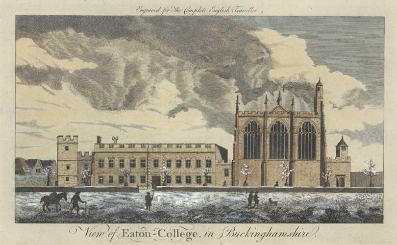 Eton College. View of Eaton-College, in Buckinghamshire. Spencer c1773